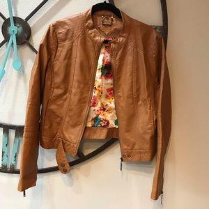 Jou Jou 🦋camel brown coat jacket juniors XL